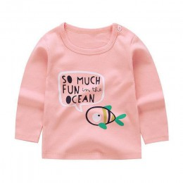 19 nowych dla dzieci odzież dla dzieci moda na co dzień z długim rękawem Tshirt bawełna Boys Baby dziewczyny drukuj nosić