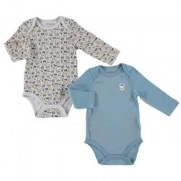 Ebebek HelloBaby wydrukowano dziecko 2 paczka z długim rękawem body Baby Romper moda Casual noworodka bawełna O-Neck odzież dla