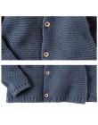 Noworodek sweter płaszcz niemowlę chłopcy dziewczęta swetry rozpinane bluza jesienno-zimowa noworodki płaszcze odzież ciepła dzi
