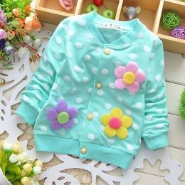 Wiosna jesień dziewczyny ubranka dla dzieci stroje sweter z nadrukiem płaszcz dla noworodków niemowlęta dziecko marka odzieżowa