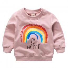 2019 New Arrival boys Baby dziewczyny maluch bluzy wiosna jesień dzieci bluzy długie rękawy sweter dzieci T-shirt ubrania
