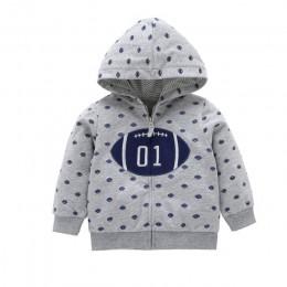2019 rzucili nowy Menino jesień zima ciepłe ubrania dla dzieci dziewczyny rękaw bluzy chłopiec bluza z zamkiem Dot stroje