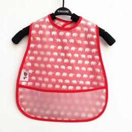 Regulowane śliniaki dla dzieci EVA wodoodporne śliniaki na Lunch Baby Cartoon karmienie tkaniny dzieci Baby fartuch Babador Band
