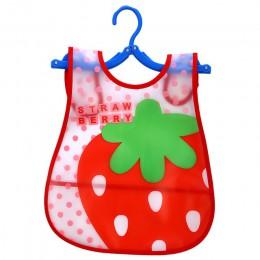 Regulowane śliniaki dla dzieci EVA plastikowy wodoodporny obiad śliniaki dla dzieci Cartoon karmienie tkaniny dzieci dziecko far