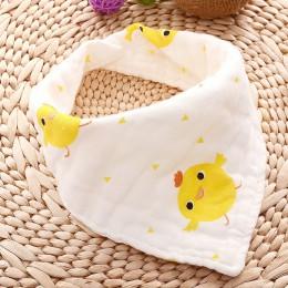 Muślin śliniaki dla dzieci dziewczyny chłopcy dziecko tkaniny Babador nadruk zwierzęta dziecięce śliniaki na chustę Bebe Smock ś