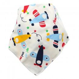 Śliniaki dla dzieci wodoodporny trójkąt bawełna Cartoon dziecko Baberos chustka na szyję Babador Dribble śliniaki noworodka Slab