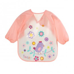 Śliczne śliniaki dla dzieci wodoodporny fartuch z długim rękawem dla dzieci śliniaczek do karmienia śliniak Burp ubrania miękkie