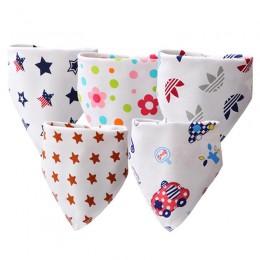 Śliniaki dla dzieci wysokiej jakości trójkąt podwójna warstwa bawełny postać z kreskówki nadruk zwierzęta śliniaki dla niemowląt