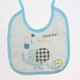 Miękkie noworodka bawełna słoń dziewczyny chłopcy śliniaki dla dzieci ręcznik karmienie śliniaczek wodoodporne niemowlę zwierząt