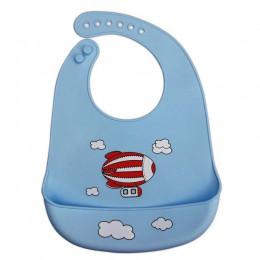 BalleenShiny Baby wodoodporne miękkie śliniaki silikonowe niemowlę nadruk kreskówkowy zwierzęta regulowane narzędzia do karmieni