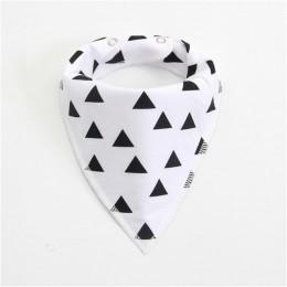 Nowe bawełniane śliniaki dla dzieci śliniaczek dziecięce rzeczy Babador Cartoon strzałka fala trójkątna chustka śliniaki wielokr