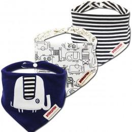 3 sztuk/partia śliniaki dla dzieci Bandana Lot 100% bawełna wysokiej jakości Babadores Para Bebe śliniaczek dla niemowląt dla ch