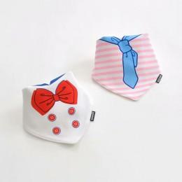 Gorąca sprzedaż 2 sztuk/partia śliniaki dla dzieci chustka bawełniana podwójna warstwa śliniak dziecko chłopcy i dziewczęta trój