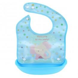 Cartoon noworodka śliniaki dla dzieci silikonowe wodoodporne karmienie dziecka Bib chłopiec dziewczyna Bavoir Bib Infantil Menin
