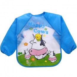 Śliczne śliniaki dla dzieci wodoodporny fartuch z długim rękawem dla dzieci karmienie śliniak Bib Burp ubrania miękkie jedz malu