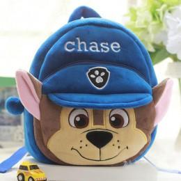 Paw Patrol z kreskówkowym psem pluszowy plecak Skye 3-7 rok Chase mała torba szkolna miękkie nieszkodliwe dzieci figurki patrol
