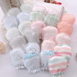 100% bawełna dziecko Anti Scratching rękawiczki nowonarodzone rękawiczki ochrona twarzy rękawiczki dziecięce rękawiczki akcesori