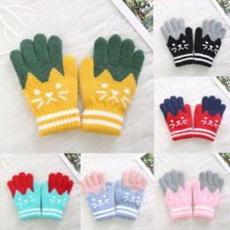 Nowe dziecko dzieci dziewczynki chłopcy rękawiczki dziecięce zimowe ciepłe grube rękawiczki magiczne rękawiczki