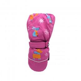 Dziecięce rękawice narciarskie wiatroszczelne i wodoodporne trójwarstwowe ciepłe rękawiczki zimowe niezbędne ciepłe rękawiczki ś