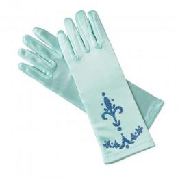 MUABABY Girl Elsa rękawiczki koronacyjne 6 kolorów brokatowe rękawiczki na długie palce 24cm cekiny drukowane ubrania cosplay dz