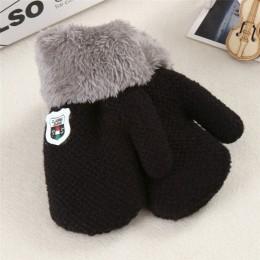 New Arrival zima Boys Baby dziewczyny rękawiczki z dzianiny ciepłe liny pełne mitenki rękawiczki dla dzieci maluch dzieci