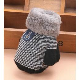 0-3 lat Boys Baby dziewczyny zimowe rękawiczki z dzianiny ciepłe liny pełne mitenki rękawiczki dla dzieci maluch akcesoria dla d