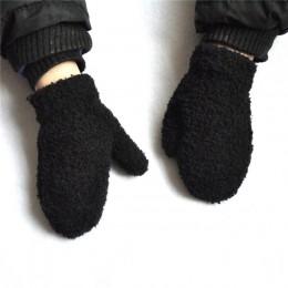 BalleenShiny nowonarodzone dziecko pluszowe koralowe rękawiczki maluch pełne palce śliczne rękawiczki ciepłe wiatroszczelne ręka
