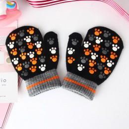 BalleenShiny Baby Warm rękawiczki maluch Kid kreskówka zwierzęta rękawiczki chłopcy i dziewczęta rękawica ze wszystkimi palcami