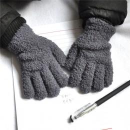 BalleenShiny Baby Winter rękawiczki z miękką koralową maluch zagęścić cukierki kolor rękawiczki rękawiczki dla chłopców i dziewc