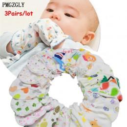 3 par/partia noworodków odporne na zadrapania rękawice rękawiczki dla dzieci akcesoria do opieki nad dziećmi rękawice rękawiczki