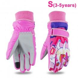 2019 dla dzieci dla dzieci chłopcy dziewczęta rękawiczki rękawiczki na świeżym powietrzu na zimę ciepłe wodoodporne wiatroszczel