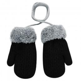 Maluch dziewczynek chłopców na zewnątrz zima Patchwork utrzymać ciepłe rękawiczki rękawiczki garnitur dla 2-4 lat dzieci zimowe