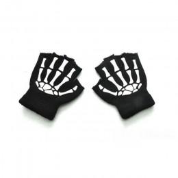 BalleenShiny zimowe ciepłe rękawiczki dla dzieci Halloween Luminous czaszka dla dzieci rękawiczki niemowlę dziecko rękawiczki zi