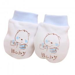 1 pary Cute Cartoon niemowlę chłopcy dziewczęta odporne na zadrapania rękawiczki miękkie rękawiczki dziecięce