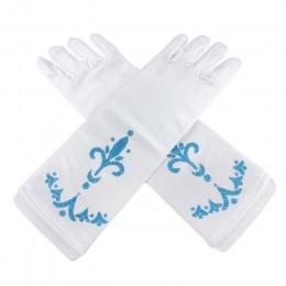 PaMaBa rękawiczki dla dzieci księżniczka Elsa Anna Cosplay akcesoria rękawiczki drukuj długie palce dziewczyny rękawice królowa