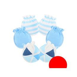 Nowe bawełniane rękawiczki dziecięce rękawiczki 3 par/paczka dziecięce rękawiczki Super miękkie nowonarodzone chłopięce rękawicz