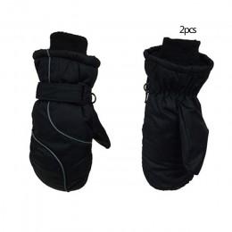 2019 nowe zimowe dzieci zagęścić ciepłe szwy rękawice narciarskie dzieci wodoodporne wiatroszczelne rękawice akcesoria zewnętrzn