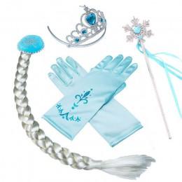 Dziewczyny Elsa Anna zestaw akcesoriów Kids Party Cosplay Aurora Belle Sofia królowa śniegu płatek śniegu magiczna różdżka rękaw
