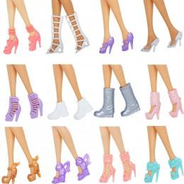 12 par buty dla lalek Mix style wysokie sandały na obcasie buty kolorowe różne buty akcesoria dla barbie Doll Baby Xmas DIY Toy