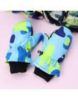 Dziecko zimowe wodoodporne ciepłe rękawiczki chłopiec dziewczyna dzieci dzieci zewnętrzne rękawice narciarskie