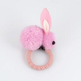 Cute zwierząt włosy piłka królik gumka do włosów kobiet gumowe elastyczne opaski do włosów koreański nakrycia głowy akcesoria do