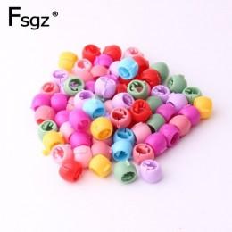 80 sztuk Mini spinki do włosów dla kobiet dziewczyn śliczne cukierkowe kolory plastikowe spinki warkocz z włosów Maker koraliki