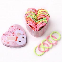 50 sztuk/pudło nowe dziewczyny kolorowe podstawowe elastyczne gumki do włosów kucyk Holder Scrunchies dzieci gumki do włosów opa