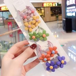 3/6/10 sztuk/zestaw dziewczyny śliczne zwierzęta kreskówkowe owoce elastyczne gumki do włosów Scrunchies kucyk Holder opaski dla