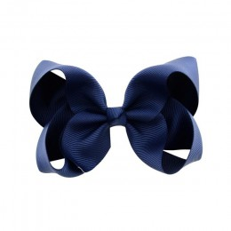 3/4/6/8inch Boutique Handmade kolorowe solidna wstążka wstążka z rypsu do włosów łuk z klipsami dla dzieci dziewczyny akcesoria