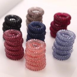 10 sztuk/partia 3cm małe gumki do włosów dziewczyny przezroczysty kolor elastyczne gumki do włosów Kid kucyk Holder Tie Gum...