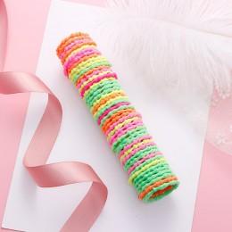 50 sztuk/partia nowe dziewczyny śliczne kolorowe podstawowe elastyczne opaski do włosów Tie Gum Scrunchie pierścień opaski gumow