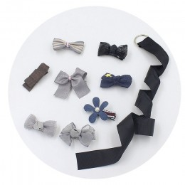 24 sztuk/zestaw spinki do włosów dla dzieci Cartoon Baby pałąk Cute Bow Flower dzieci szpilka Barrettes nakrycia głowy akcesoria