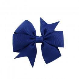 1 sztuk kolory wstążka rypsowa w jednolitych kolorach spinka do włosów z kokardą szpilka dziewczyny kokardy do włosów Boutique s