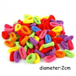 100 sztuk hurtowych dziewcząt kolorowe mała na pierścionek elastyczne gumki do włosów kucyk Holder opaski gumowe Scrunchie dziec